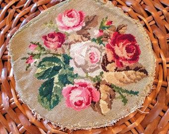 FREE SHIPPING | | Antique Rose Needlepoint