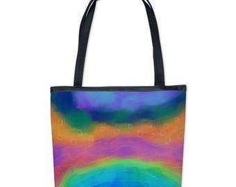 Colorful Abstract Art Handbag Shoulder Bag Purse My Funky Abstract Digital Painting