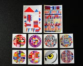 Modern Quilts Sticker Pack, Sticker Set, Vinyl Stickers, Quilt Stickers, Art Stickers, Art Quilts, Textile Art