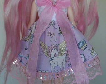 SALE Unicorn dress for Blythe and Pullip