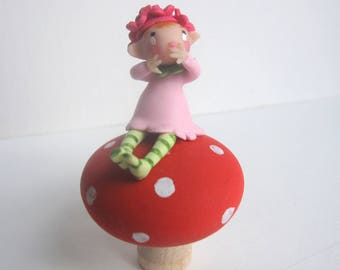 Fairy on a toadstool