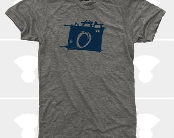 Men's CAMERA Tshirt. Photography Shirt. Sketch Camera. Photographer Gift. Gift for Men. Photography Gift. Shoot Film