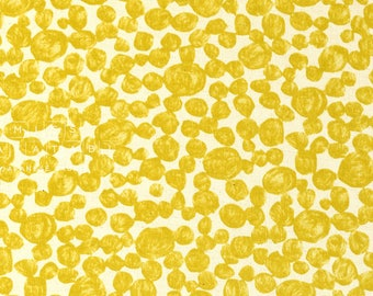Japanese Fabric Kokka Dots - yellow - 50cm