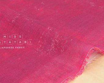 Nani Iro Kokka Naomi Ito Linen Gauze Japanese Fabric - Brilliant Garnet - 50cm