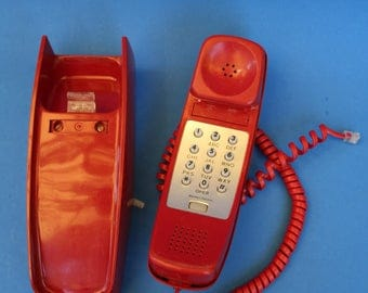VINTAGE push button RED phone