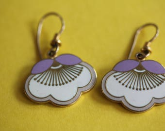 VINTAGE Laurel Burch dangle flower earrings