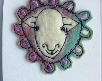 Herdwick sheep brooch