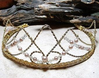 ON SALE Renaissance Crown Tiara Danu Queen of the Elven Fairy Fae Circlet