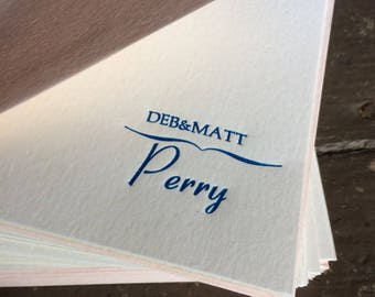 Wedding Gift Bridal Shower Gift Bridesmaids Gift Ideas Custom Letterpress Stationery Wedding Monogram Custom Designed Handmade Wedding Gift