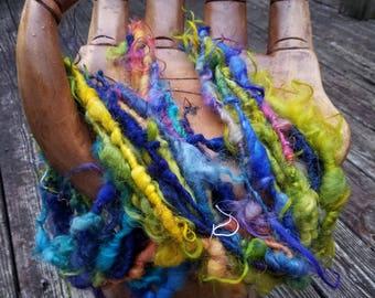 Handspun Art Yarn-Icelandic Rainbows- Iceland Collection-Signature Jazztutle TextureSpun Artisan Yarn