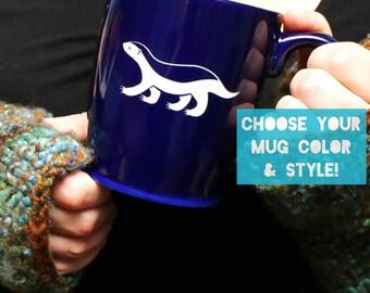 Honey Badger Mug - Choose Your Inspirational Cup Color