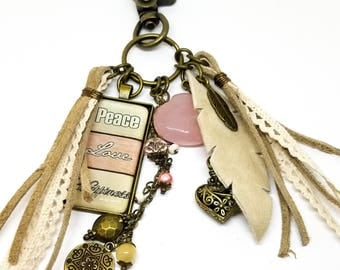 Tassel Keychain | Boho Tassel Charm | Southwest Tassel Bag Charm | Southwest Key Chain | Tassel Purse Charm | Gift for Her