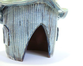 Handmade Toad House - Stoneware Creature Home - Pottery Yard Art