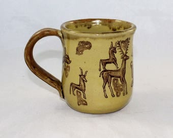 Gundestrup Cauldron Mug - featuring Cernunnus and his magickal pals