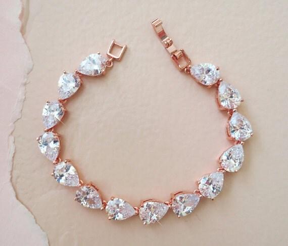 bridal crystal bracelet, art deco wedding jewelry