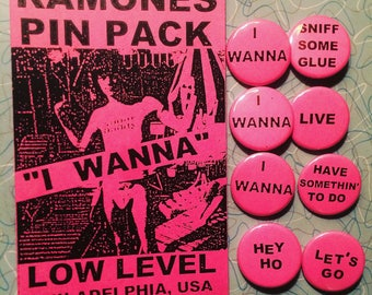 "Ramones ""I WANNA"" Pin Set"