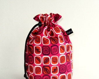 Drawstring Bag Knitting Project Padded Pouch  - Beyond the Backyard