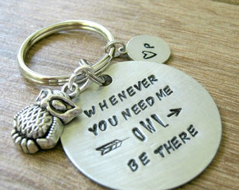 Whenever You Need Me Owl Be There Keychain, Owl Keychain, BFF Keychain, BFF Gift, Best Friend Gift, Sympathy gift, Stay Strong