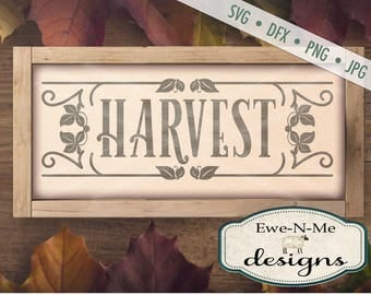 Harvest SVG - Rustic svg - Farmhouse svg - harvest sign svg - farmhouse style harvest svg - Commercial Use svg, dfx, png, jpg