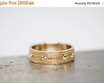 50% OFF Size 7 Womens Textured Bronze Ring Band | Ready to Ship