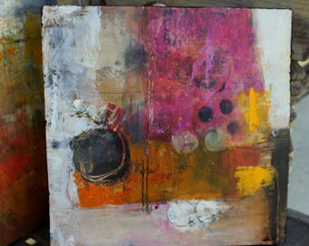 Coldwax and Oil Abstract Painting Freedom to Dream Original contemporary art 10 x 10  by Jodi Ohl