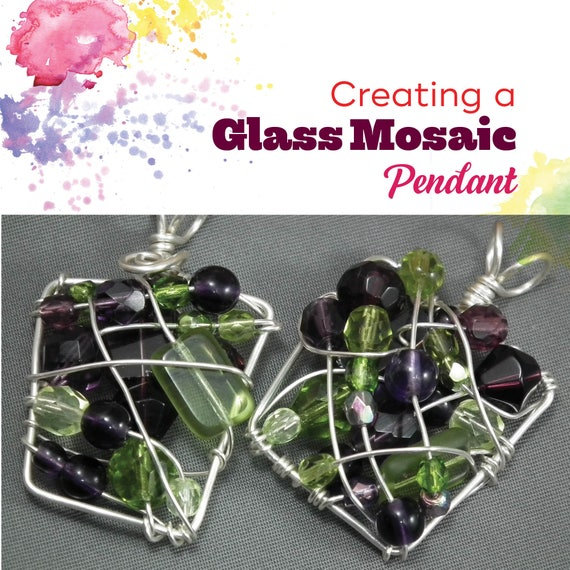 TUTORIAL: Mosaic Bead Pendant (Wire-Wrapped Pendant Instructions)