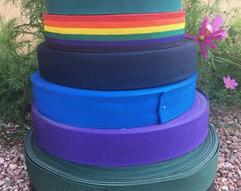 """2"""" wide Polypropylene Webbing - by the yard - 17 colors to choose from"""