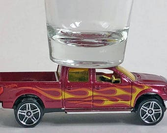 the Original Hot Shot shot glass, '09 Ford F-150 Pick Up, Hot Wheel car
