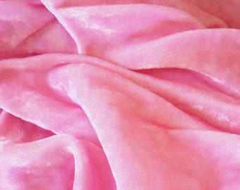 "Vintage / Rayon Velvet / Make Your Own Millinery Flowers / Made in Japan / 36"" x 36"" / Velvet Strawberries / Velvet Mushrooms / Rose Pink"