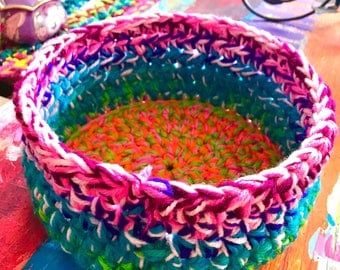 Crochet Basket or Bowl  10 inch