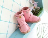 Mini Star Pink Leather Boots Neo Blythe Doll Azone Pure Neemo M S Body