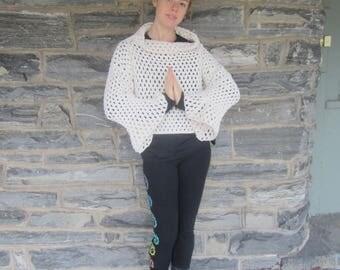 CROCHET SWEATER,  Crop sweater, Boho sweater, Womens sweater, womens clothing, crochet womens sweater, Gift for women, NEW!!  ready to ship