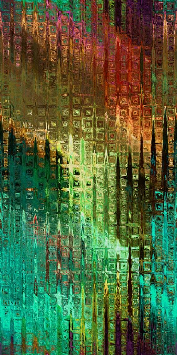 Teal Weave Fall Handmade Velvet Upholstery Fabric Kaleidoscope Shimmer Fiber Art Fabric