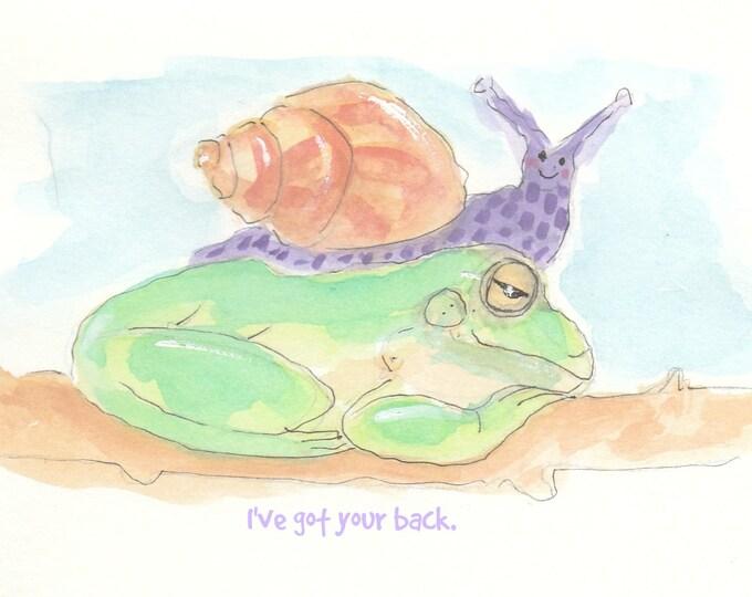 Snail friendship encouragement card