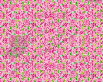 "First Impression Lilly Inspired HTV, pattern vinyl, sheet size 12""x12"" , Lily P adhesive printed craft vinyl LP-31ss"