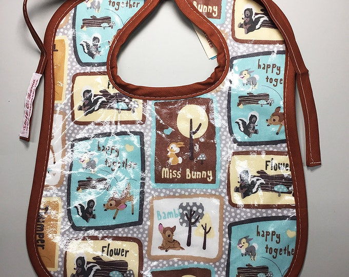 Wipeable Baby Bibs - Bambi and Friends