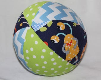 Monster Mash Fabric Boutique Ball Rattle Toy