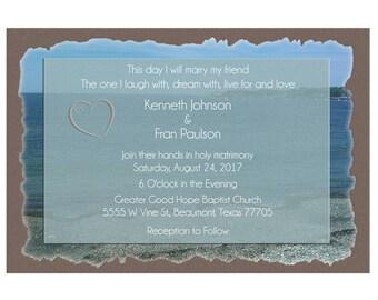 Beach Wedding Invitation Beach Digital Design