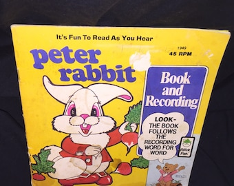 1981 Peter Rabbit Book and Record