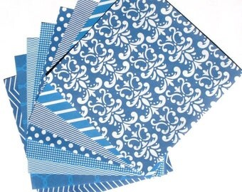 True Blue - 6x6 Recollections Home Basics Paper Pack