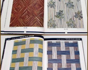 Vintage Linoleum Catalog - Sloane-Blabon - vintage interior decorating - 1940s - home decor design - samples - mid century