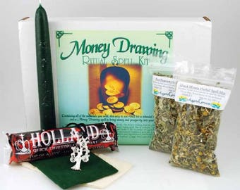 Money Drawing  Spell Boxed Ritual Kit-Spells for Love, Spells that work, spell kits, altar kits, witchcraft spells, witch spells,