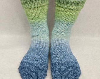 Beach Glass Panoramic Gradient Matching Socks Set Yarn, dyed to order - pick your size, pick your yarn base