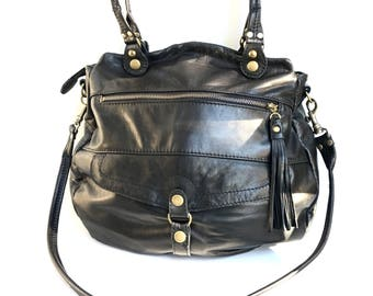Large 5 pocket Medium Oaxaca bag in black