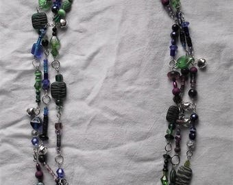 Royal Colors multi-strand beaded necklace