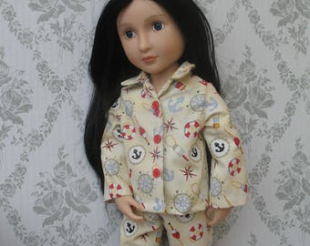 A girl for all time Doll Clothes Pajamas