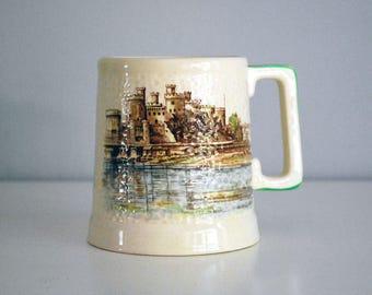 Conway Castle Mug, Brentleigh Ware Stein, Staffordshire England Beer Mug, Historic Architecture Tankard, Ceramic Mug, Drinking Barware