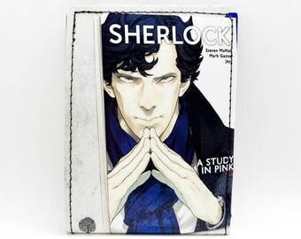 Sewn Comic Book Wallet - Sherlock Holmes Wallet