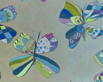 Butterfly Jennifer Mercede painting 6x12in Sweet Purple Fam Fly
