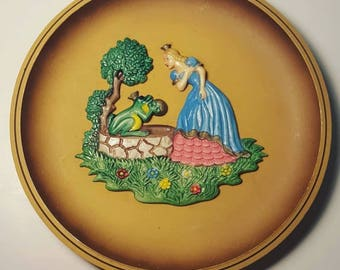 The Princess and Frog Plate Wall Art Made in West Germany